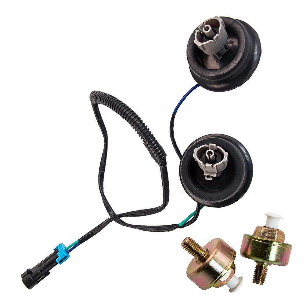 Awesome 2x Knock Sensor w/ Wire Harness Kit Set For Chevy GMC Silverado on