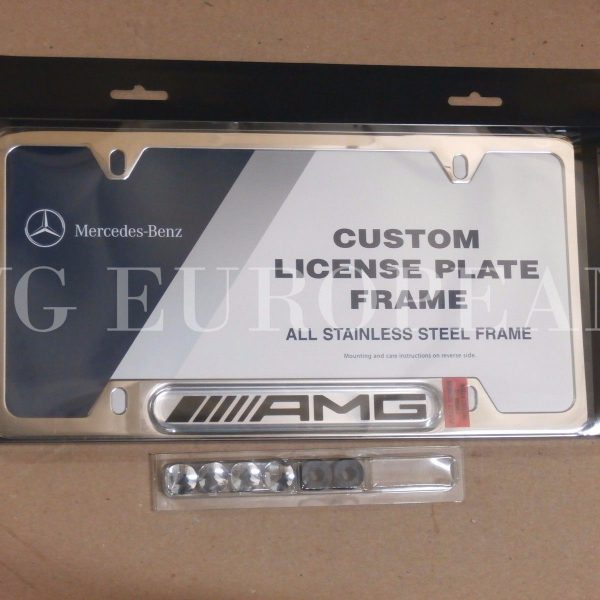 Awesome Mercedes-Benz Genuine Polished Stainless Steel License Plate ...