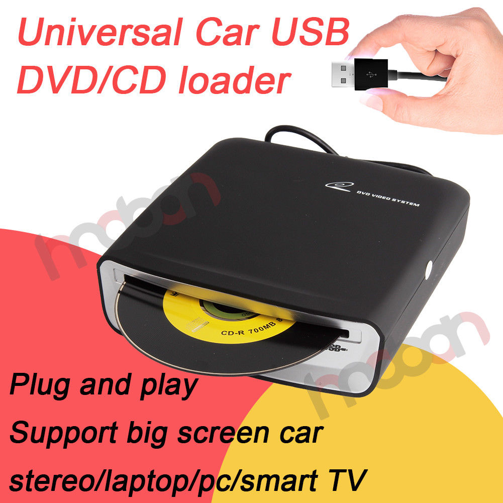 amazing portable universal usb car dash dvd cd player loader for android stereo external 2018