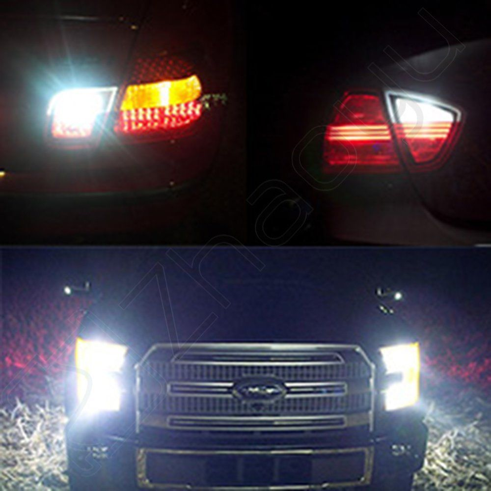 2x 60W Switchback 1157 Cree LED 60 SMD Turn Signal White Amber Car HID Lights