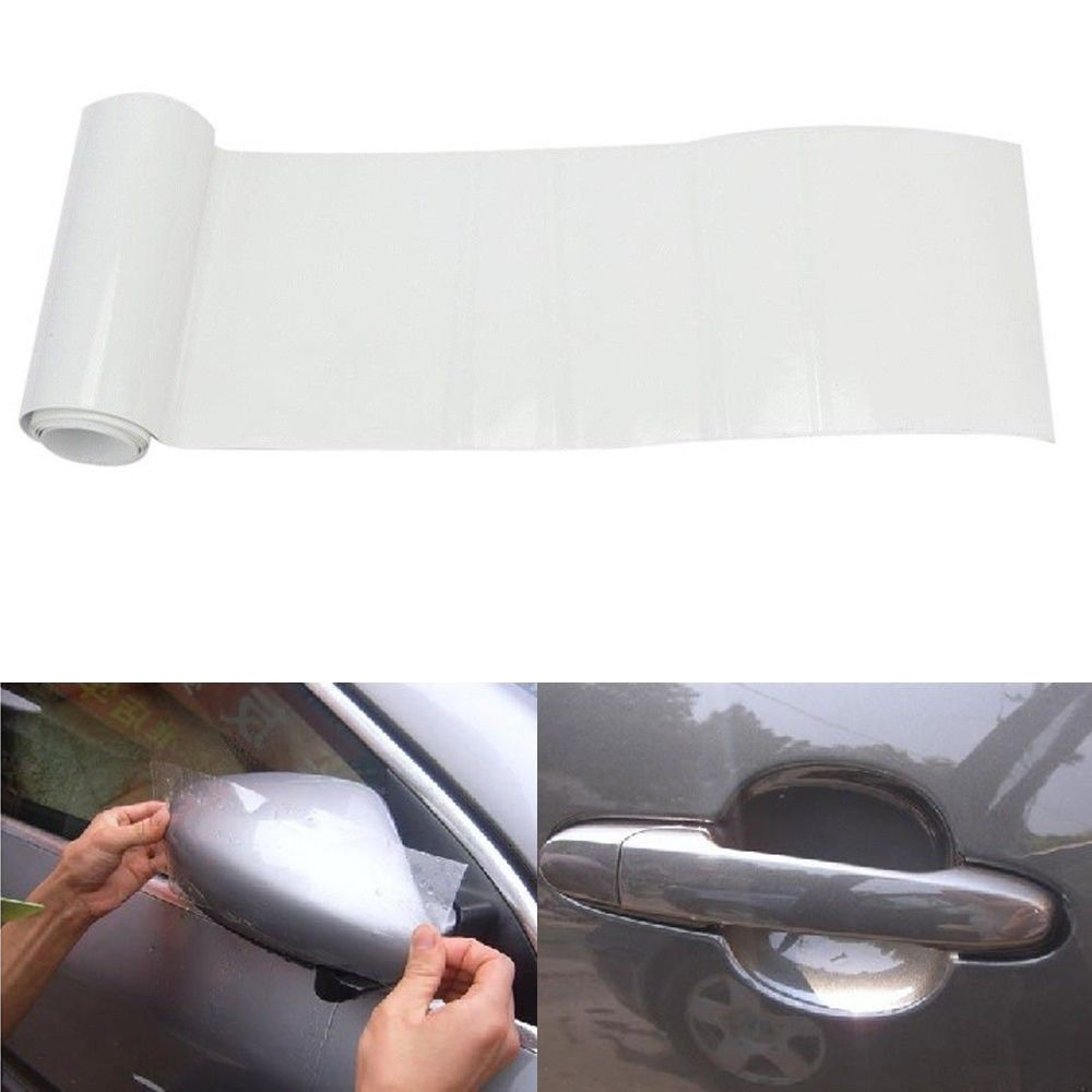 """6/""""x60/"""" Car Clear Vinyl film Sheet Door Sill Edge Paint Protection Anti-Scratches"""