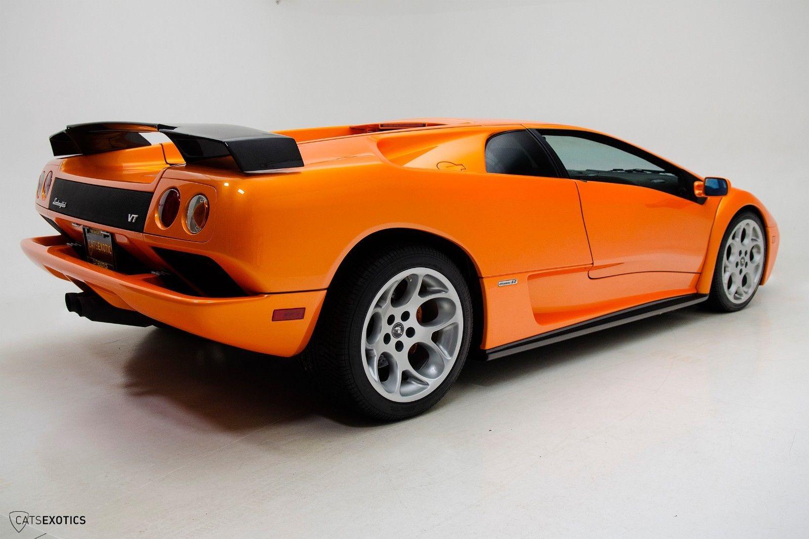 Awesome 2001 Lamborghini Diablo 6 0 Vt Rare Arancio Atlas Carbon