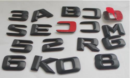 """Matte Black /""""GLE43 AMG BITURBO 4MATIC/"""" Number Emblem Sticker for Mercedes-Benz"""