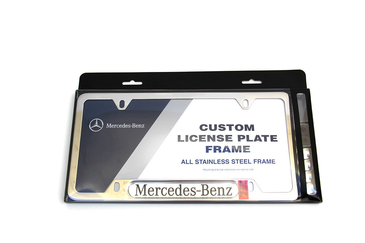 Amazing MERCEDES-BENZ POLISHED STAINLESS STEEL LICENSE PLATE FRAME ...