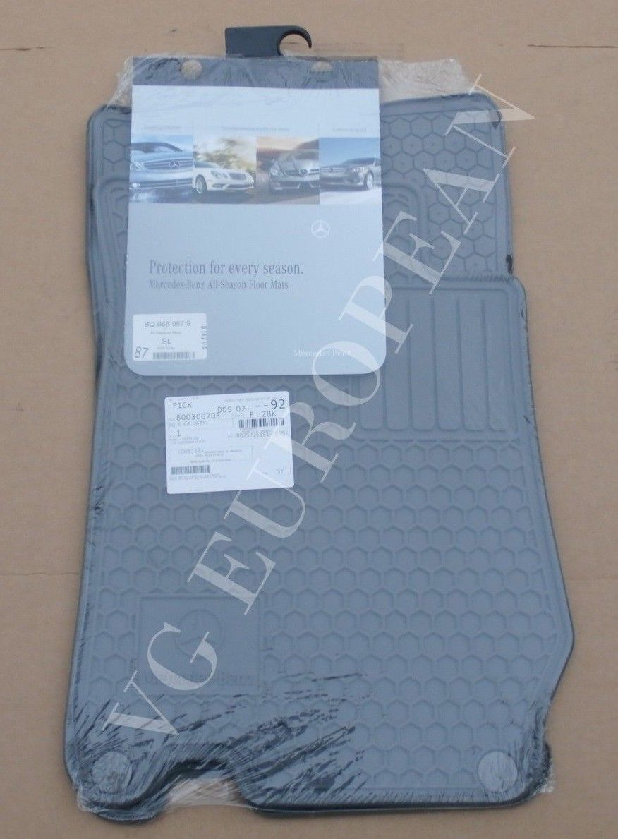 Awesome mercedes benz r230 sl class genuine all season for Mercedes benz sl550 floor mats