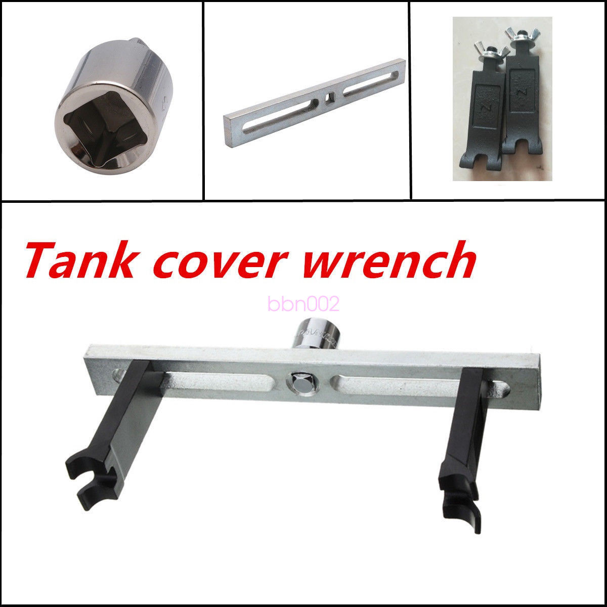 Portable Adjustable Car Fuel Pump Lid Tank Cover Remove Spanner Wrench Hand Tool