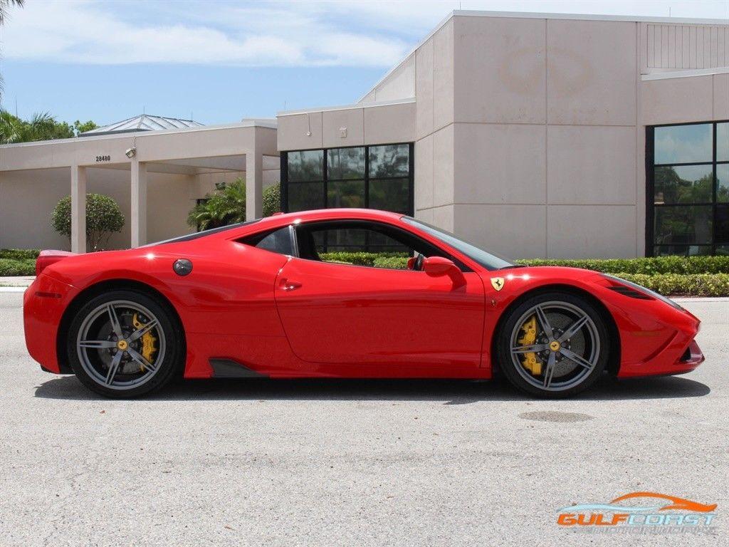 Awesome 2015 Ferrari 458 Speciale Rosso Scuderia 3K Miles Yellow Caliper  2015 Ferrari 458 Speciale Rosso Scuderia 2K Miles Yellow Calipers 2017 2018