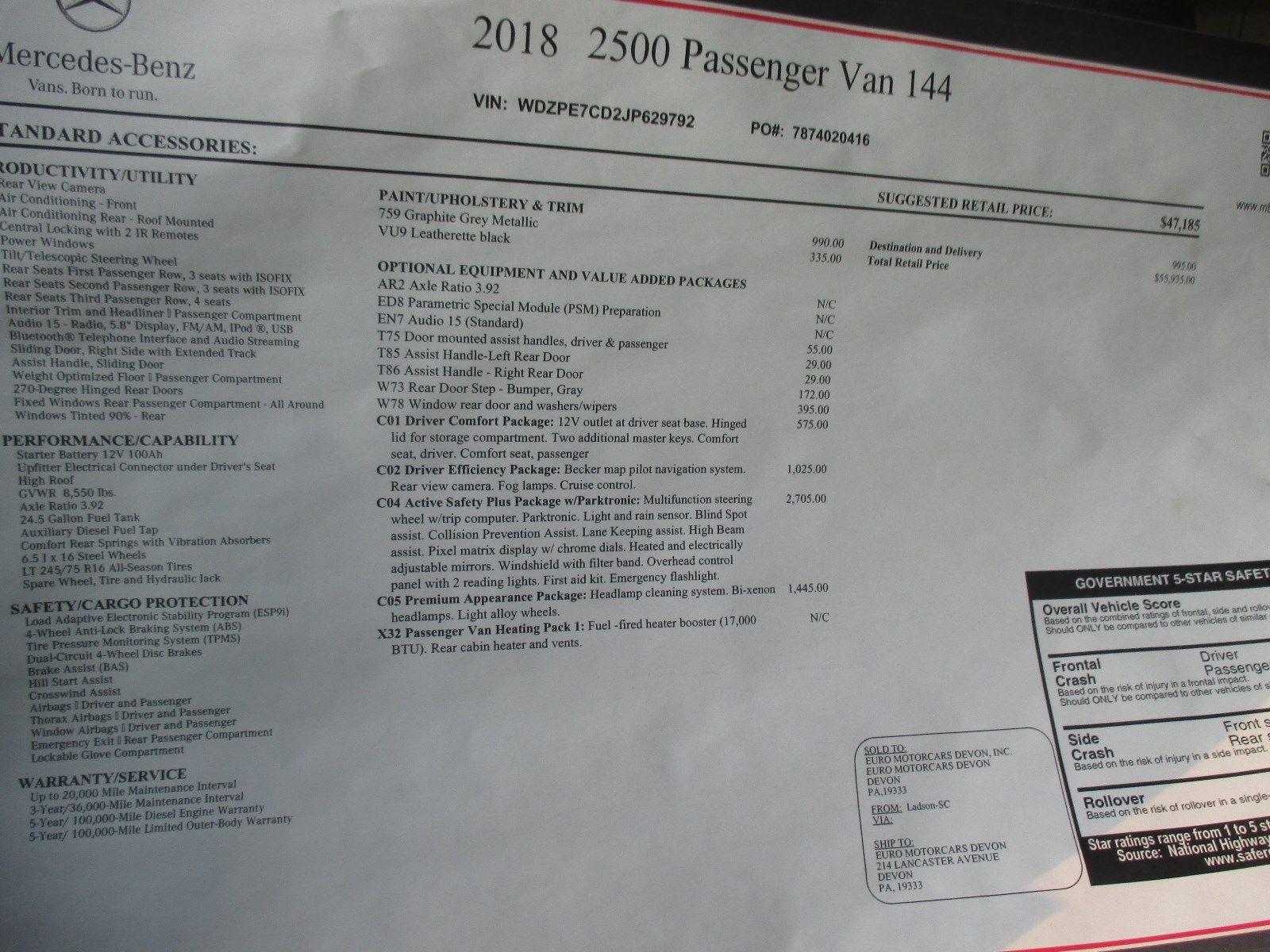 Great 2018 Mercedes Benz Sprinter 12 Passenger Van 2018 New Sprinter 144 Wb 12 Passenger Van Like A Promaster Van 2018 2019