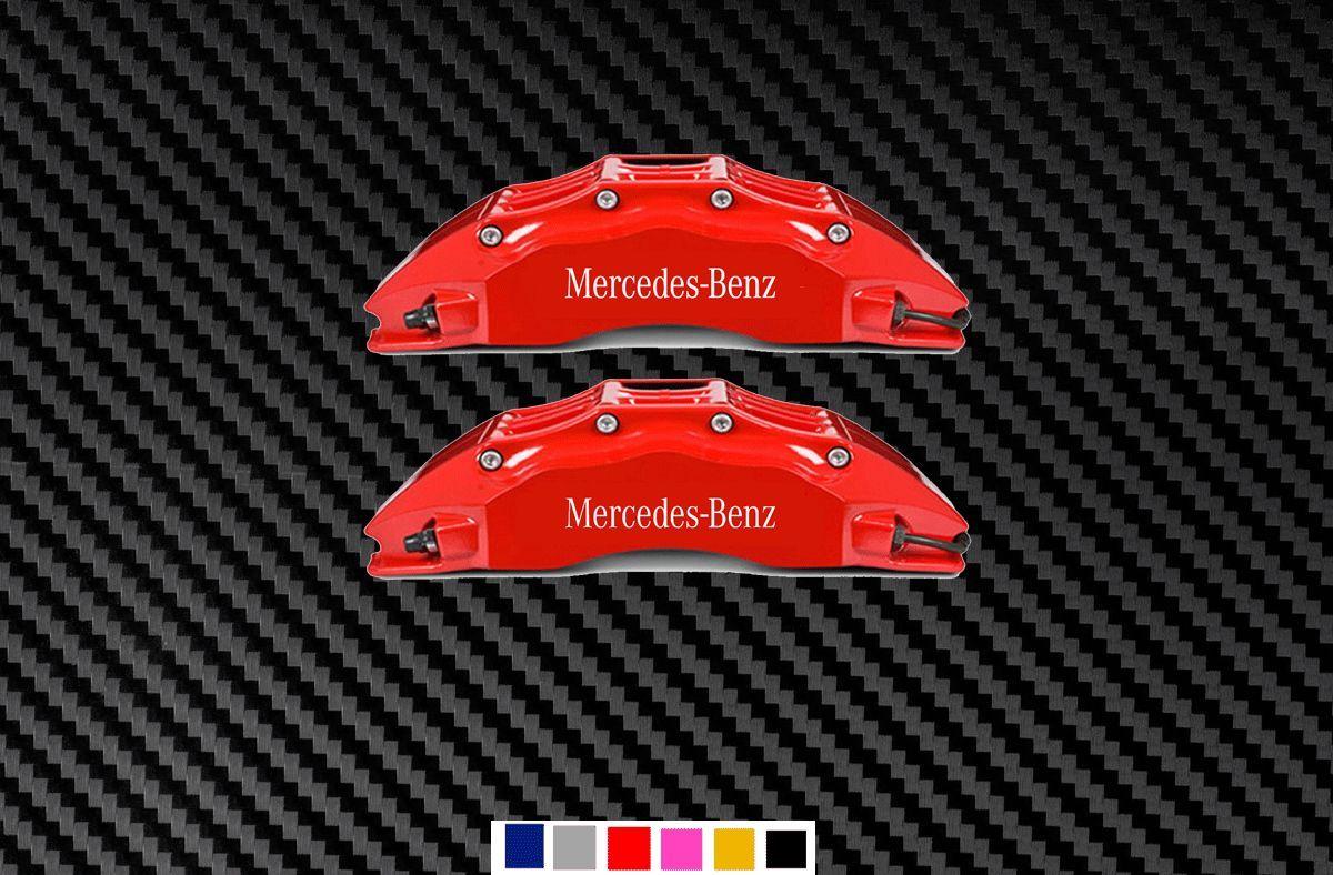 6X Mercedes Benz Caliper Vinyl Decals Sticker AMG SLK SLS CLS CLA GLK E-Class