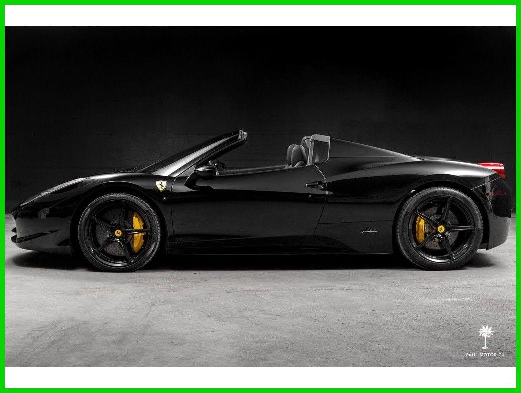 Ferrari 458 458 Spider Black On Black 2013 Ferrari 458 Convertible 4 5l V8 2017 2018 Is In Stock And For Sale 24carshop Com