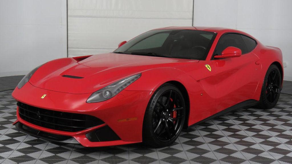 Used Ferrari F12berlinetta 2dr Coupe 2015 Ferrari F12 Rosso Corsa Nero Shields Carbon Wheel Black Wheels Nice 2017 2018 Is In Stock And For Sale 24carshop Com