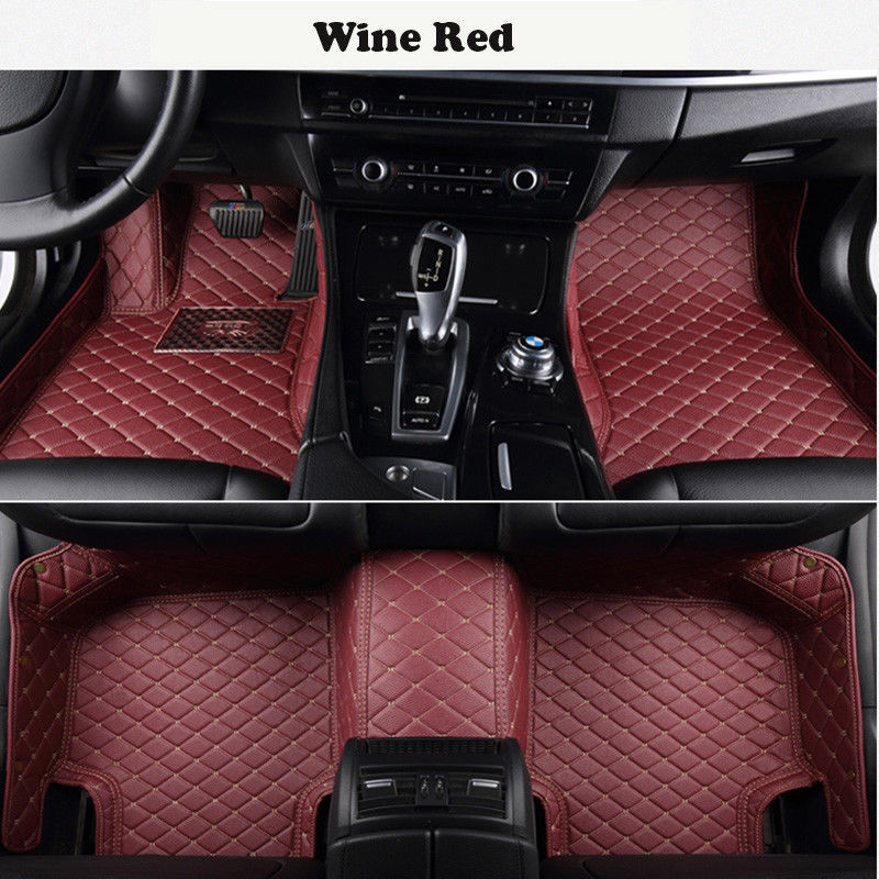 Car Floor Mats For Acura MDX 2014~2018 pu leather mats