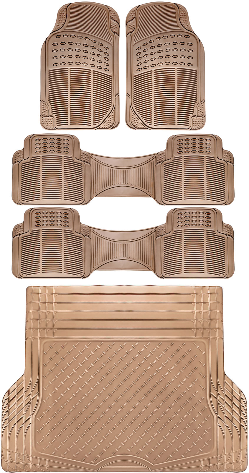 Used 5pc All Weather Heavy Duty Rubber Universal Floor Mat
