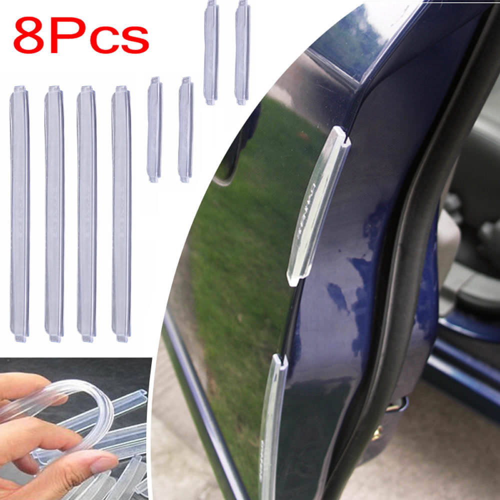 4x Anti-collision Car Door Edge Scratch Protector Guard Strip Exterior Trim  Kit