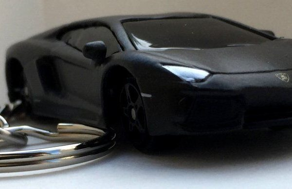 Great Keychain Matte Black Lamborghini Aventador Lp700 4 Key Chain