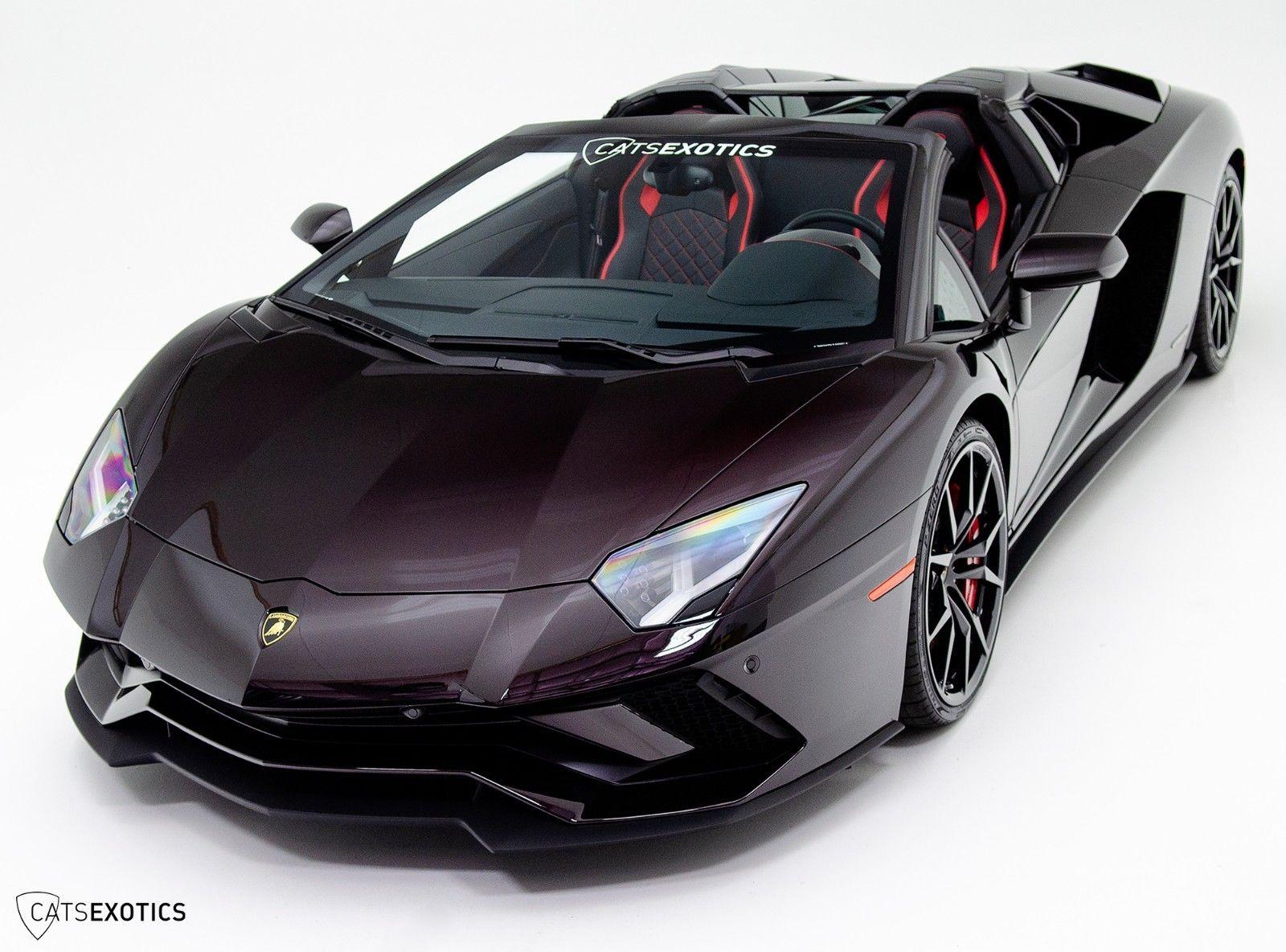 Awesome Lamborghini Aventador S Roadster Nero Granatus 14 800 Paint
