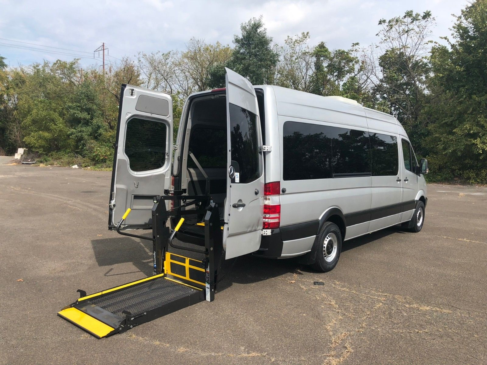 Awesome 2017 Mercedes Benz Sprinter Handicap Van Wheel Chair Lift 12 Penger Plus 1 2018
