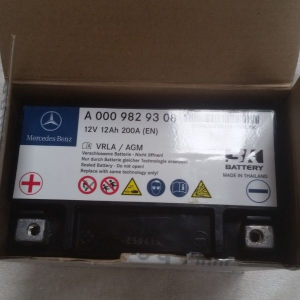 Great New Genuine Oem Mercedes Benz Auxiliary Eco Battery