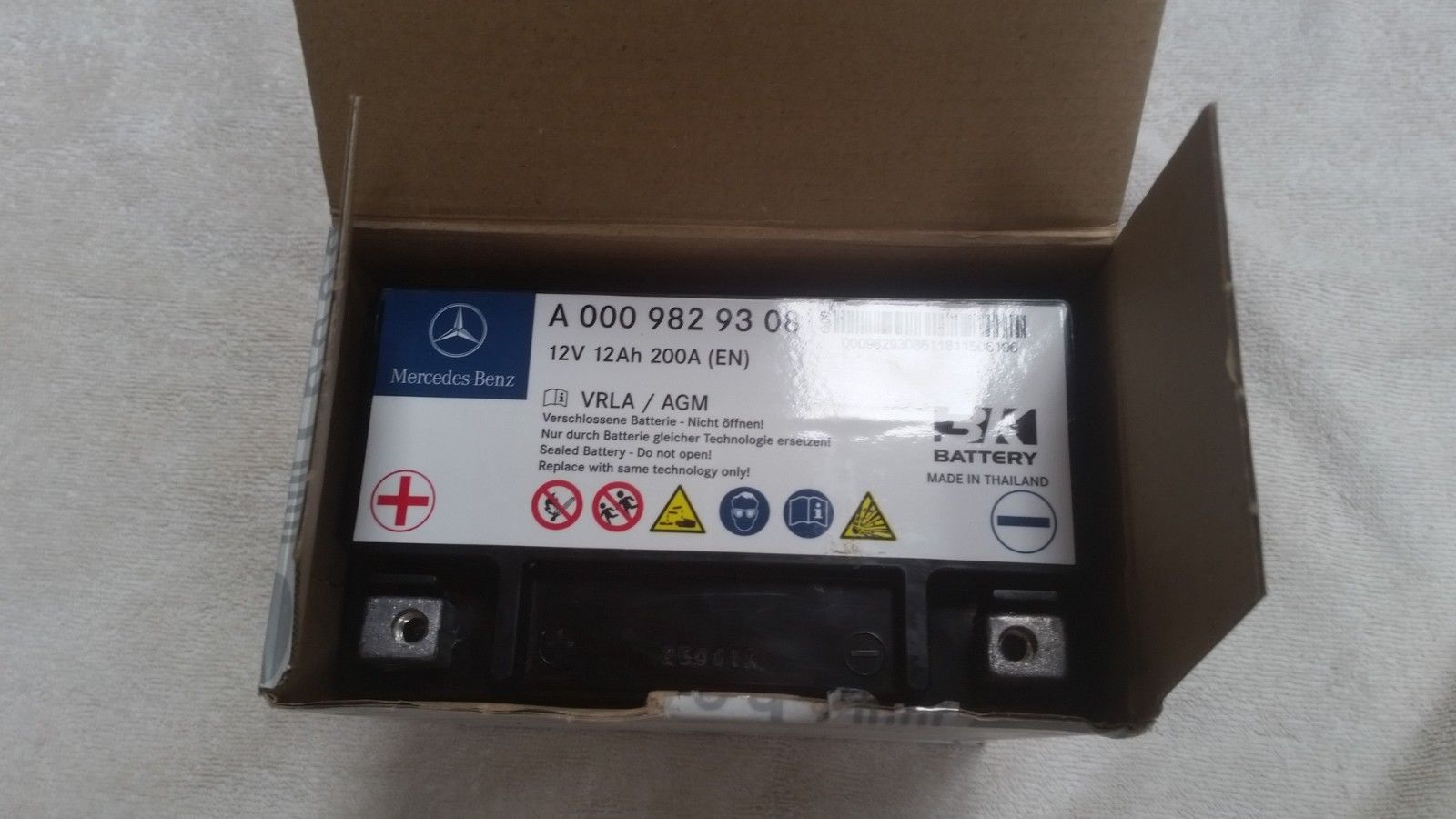 great  genuine oem mercedes benz auxiliary eco battery    cars