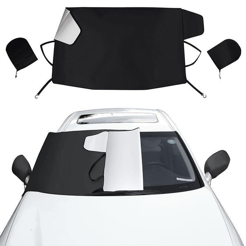 Auto Windshield+Mirror Snow Sun Cover Tarp Ice Scraper Frost ...