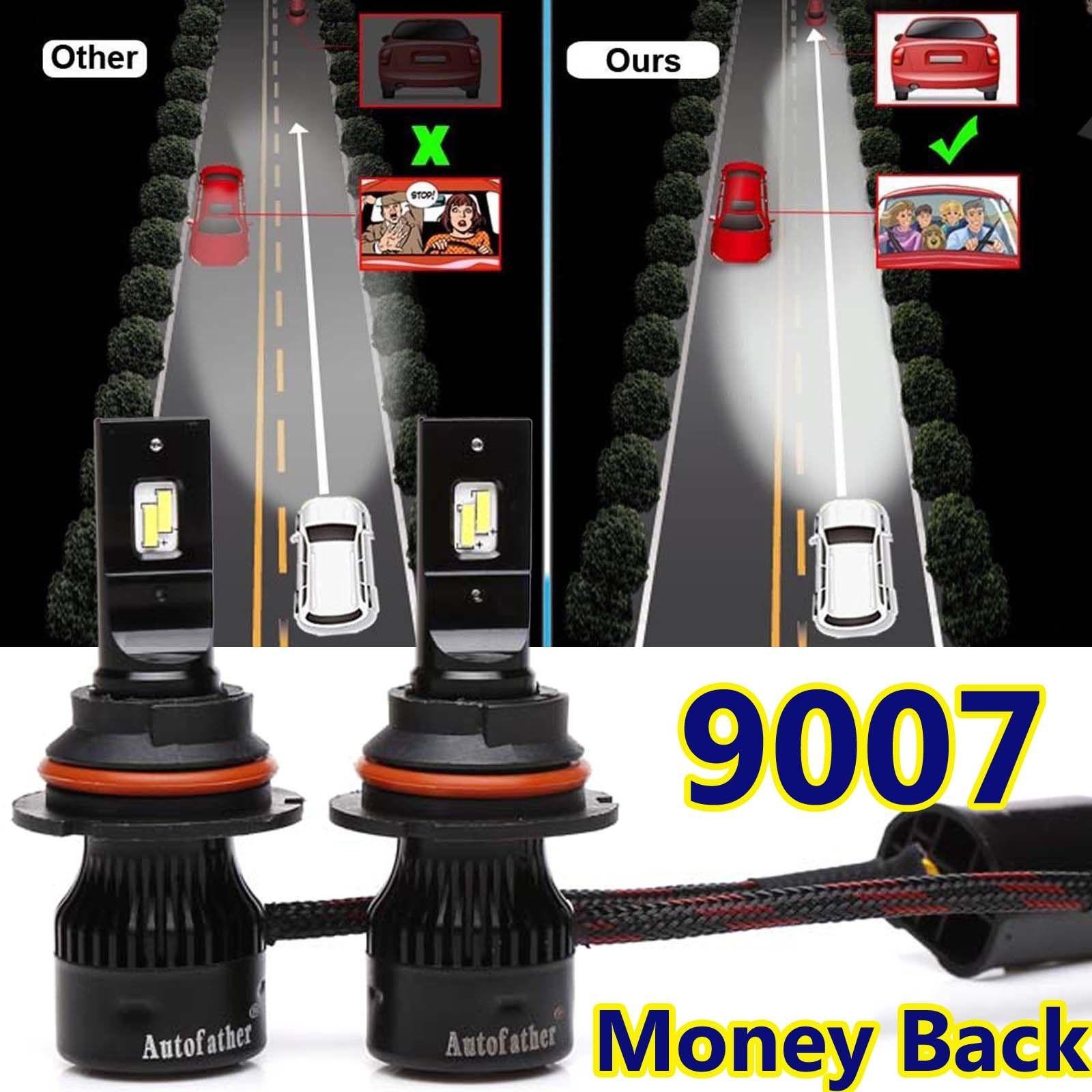 For Nissan Frontier 2001-2018 9007 HB5 LED Headlight Hi//Lo Beam Bulbs Kit White
