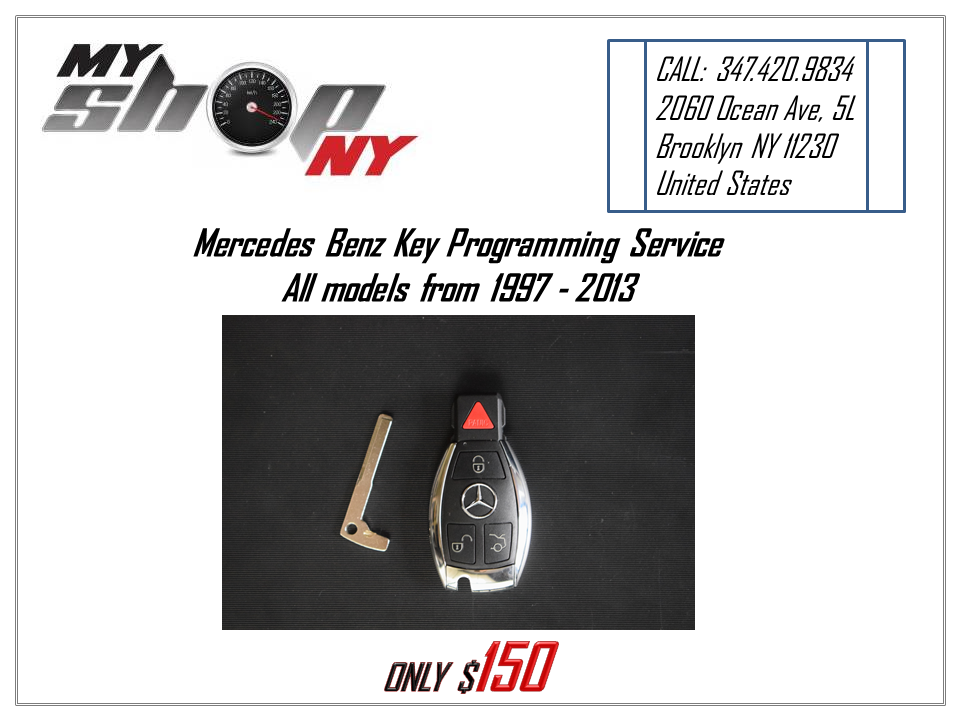 Great Mercedes Benz Key Programming Service  All models from 1997 – 2013  year 2017/2018